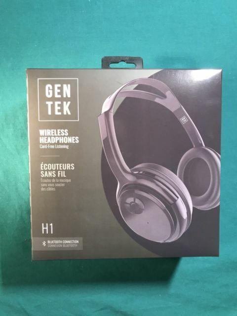 Gen Tek H1 Wireless Headphones W Bluetooth Connection For Sale Online Ebay