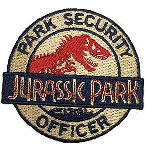"Jurassic Park Movie Ranger Logo 3.25/"" Embroidered Iron//Sew-On Patch US Seller"