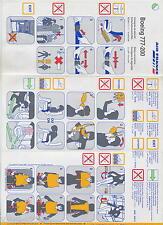 AIR FRANCE B 777-200 safety card - Ref. 005580 9/99 - good cond sc542