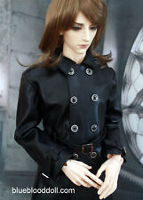 1/3 BJD 70cm Iplehouse EID model SID male doll outfit black leather coat ship US