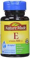 Nature Made Vitamin E 400 Iu, Helps Maintain Healthy Heart, 100 Counts