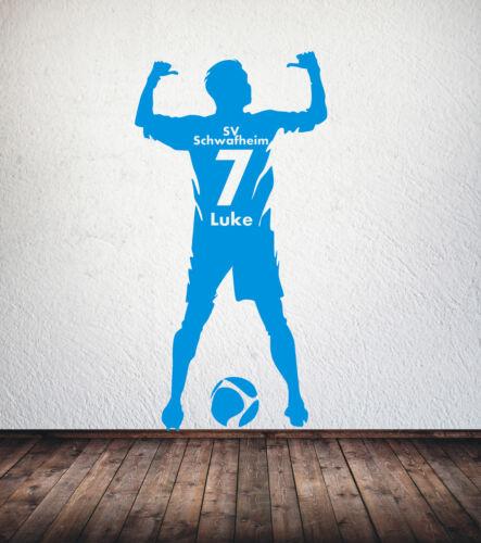 Wunschname Trikot Nummer Verein Wandtattoo Fussballer Fussball Name