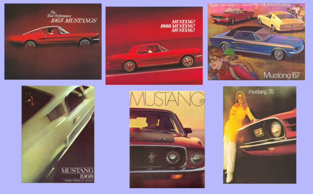 Classic Ford Mustang Repro Sales Brochures 1965 1966 1967 1968 1969 1970 Vintage