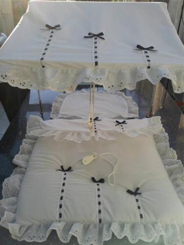 Pram Canopy pour s/'adapter Silver Cross Blanc//avec Marine Bows