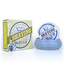 THE HANDMADE SOAP CO. Rasierseife 100g & Rasierschale Keramik handmade in Irland