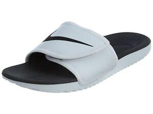 super cute 71539 e73fe Image is loading Nike-Kawa-Adjust-Mens-834818-101-White-Black-