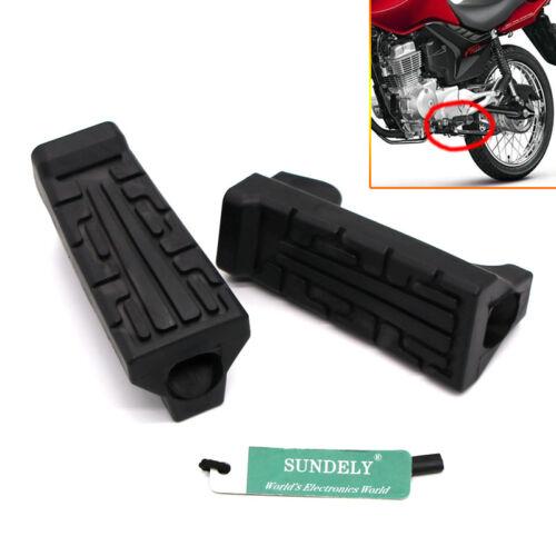 2-Pcs Black Front Foot Rest Peg Rubbers Footrest For Yamaha YBR 125 2004-2016
