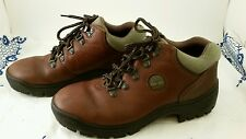 EUC Timberland Leather Field boot w/Green Nubuck Collar, Women's 9 made in Italy