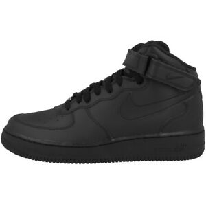 b94595eecd71b7 Nike Air Force 1 Mid Chaussures de GS Noir Baskets montantes 314195 ...