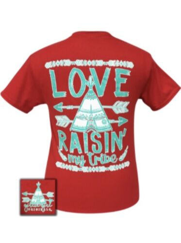 Girlie Girl Originals• Women's Love Raisin' My Tribe Red T-Shirt• Medium