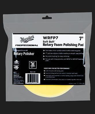 "Flight Tracker Meguiars Wrfp7 Soft Buff Rotary Foam Polishing Pad 7"""