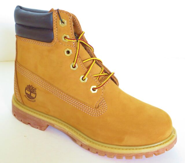 Timberland Women s 6 Inch Wheat Waterproof Double Sole Padded Collar Boots  42687 bea225c2ba
