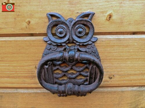 Cast Iron Traditional Vintage Antique Style OWL DOOR KNOCKER Great Character