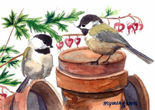 ACEO Limited Edition Play on the pots,Art print of an ACEO original watercolor