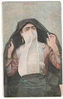 Middle East, Veil Turkish woman EGYPT Ethnics old Postcard