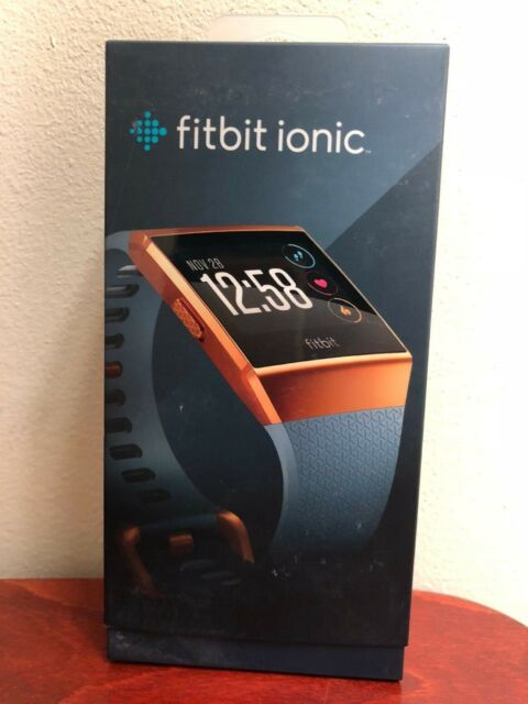 Fitbit Ionic 36mm Burnt Orange Aluminum Case Slate Blue Classic Buckle (503CPB)