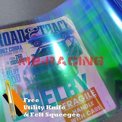 """12/""""x84/"""" Chameleon Neo Blue Color Headlight Taillight Fog Light Vinyl Tint Film"""