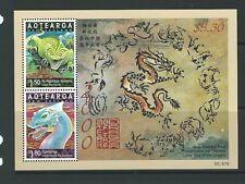 NUOVA Zelanda 2000 SPIRITI E GUARDIANI Anno del drago in miniatura foglio UM, M