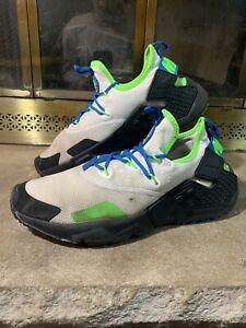 Details about Nike Air Huarache Drift Scream Green Mens Size 9.5 Mens AH7334-102 White Green