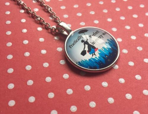 Mary Poppins Necklace for Practically Perfect Fancy Dress Umbrella Bag Charms