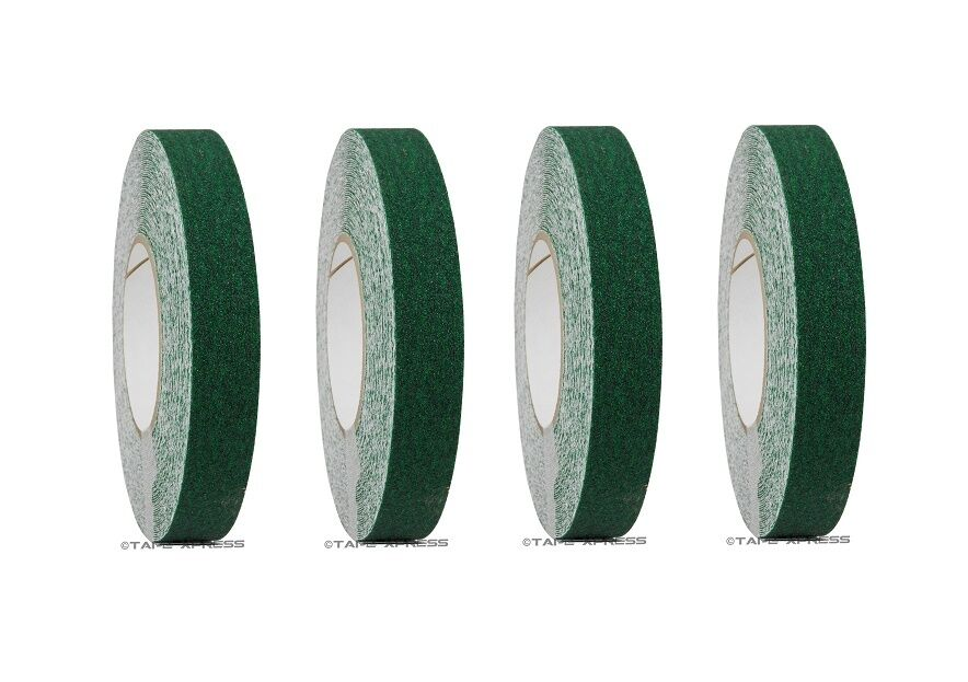 4 rolls 1  x 60 Dark Green Non Skid Adhesive Tape 60 Grit Grip Non Slip Traction