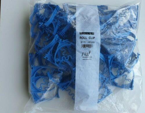 Ventilation semi-flexibles conduits Clamps 76 mm-lindab-Bleu-Pack de 48
