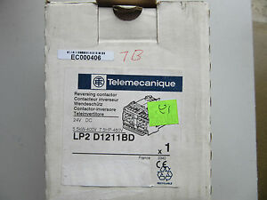 Telemecanique LP2D1211BD Reversing Contactor 24VDC NEW!!! in Box Free Shipping