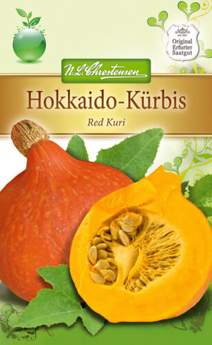 3-5 graines 4286 Hokkaido-Citrouille /'Red Kuri/' Luffa Maxima env