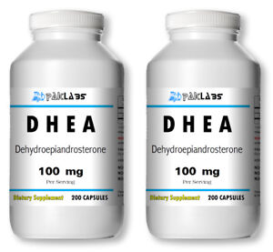 Best Dhea Supplement 2020 Lot of 2 DHEA 100mg 400 Capsules 12 Month Supply Diet Supplement