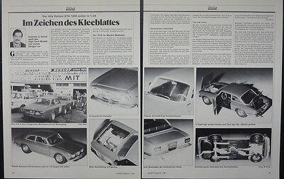 Alfa Romeo Gta 1300 Junior In 1-24 Di Gunze Sangyo... Un Modello Relazione #1986-mostra Il Titolo Originale