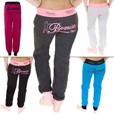 New Womens Ladies American Sport Tracksuit Jogging Bottoms Joggers Size S M L XL
