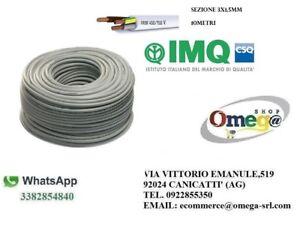 CAVO-FILO-ELETTRICO-FROR-TRIPOLARE-NPI-GRIGIO-10mt-SEZIONE-FROR-3X1-5mm