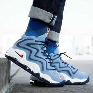 acheter populaire 5a67d a1572 Détails sur Nouveau Nike Air Max Pippen Uptempo Bleu Blanc Basket Gym  Baskets Hommes UK 9 9.5- afficher le titre d'origine