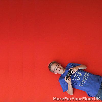 Plain Red Vinyl Flooring 2m Wide Anti
