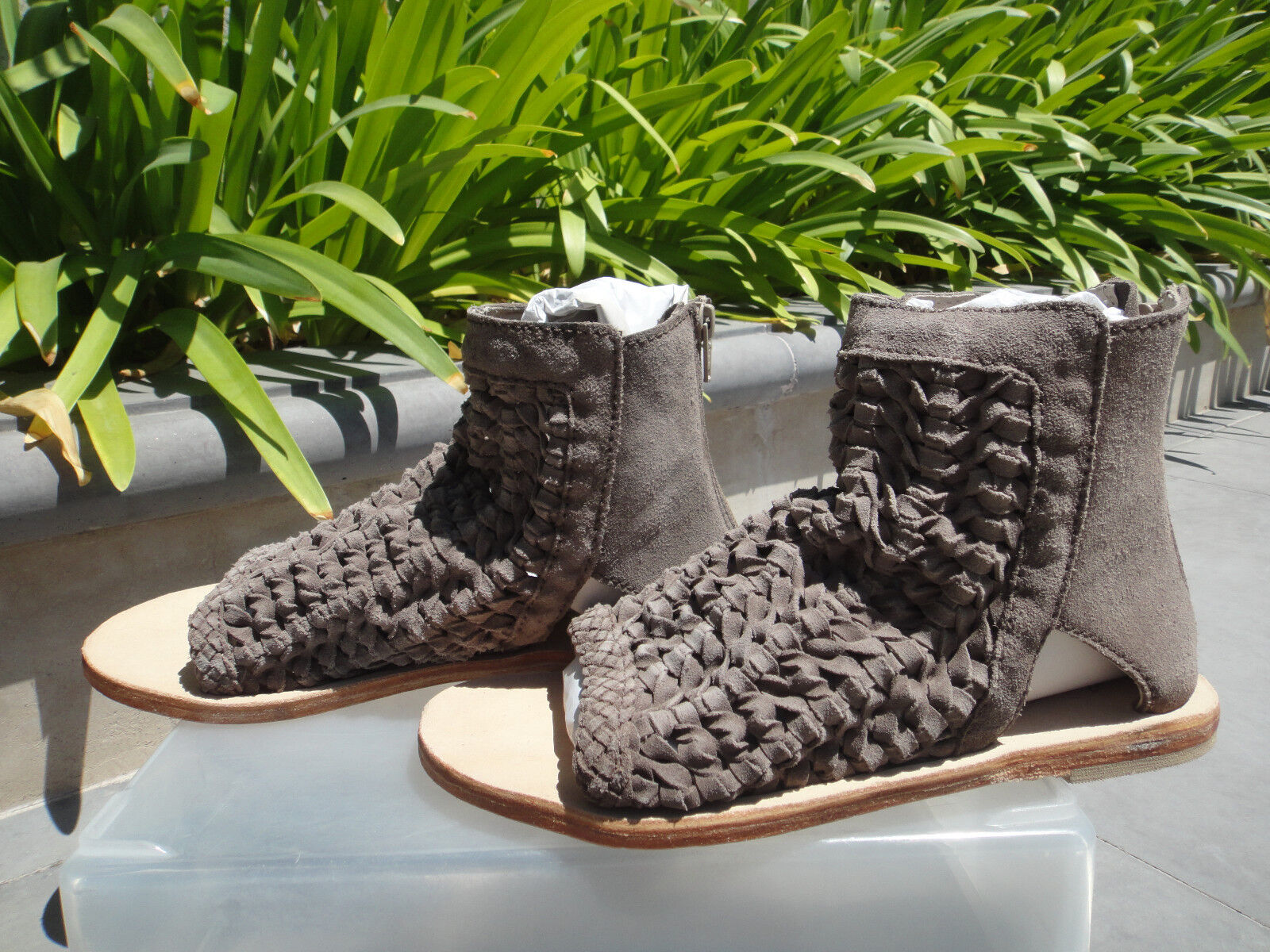 Free People ISLAND CRUISER Woven Suede Ankle Boot Booties Sandal, Color  Size