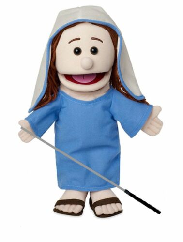 Silly Puppets Mary(Biblical) Glove Puppet Bundle 14 inch with Arm Rod