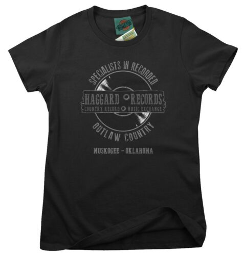 Damen T-Shirt MERLE HAGGARD inspired Haggard Record outlaw country