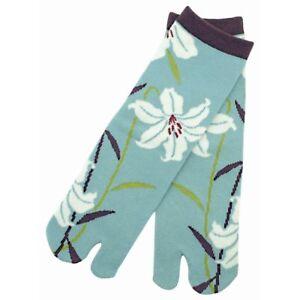 Chaussettes Japonaises Tabi Femme,enfant 34/39 Bleu Turquoise Fleur De Lys Les Commandes Sont Les Bienvenues.