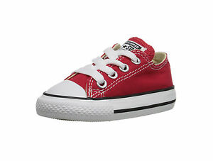 d77742c3c77b Converse All Star Babies Toddlers Girls Boys Canvas Shoes Red Low ...