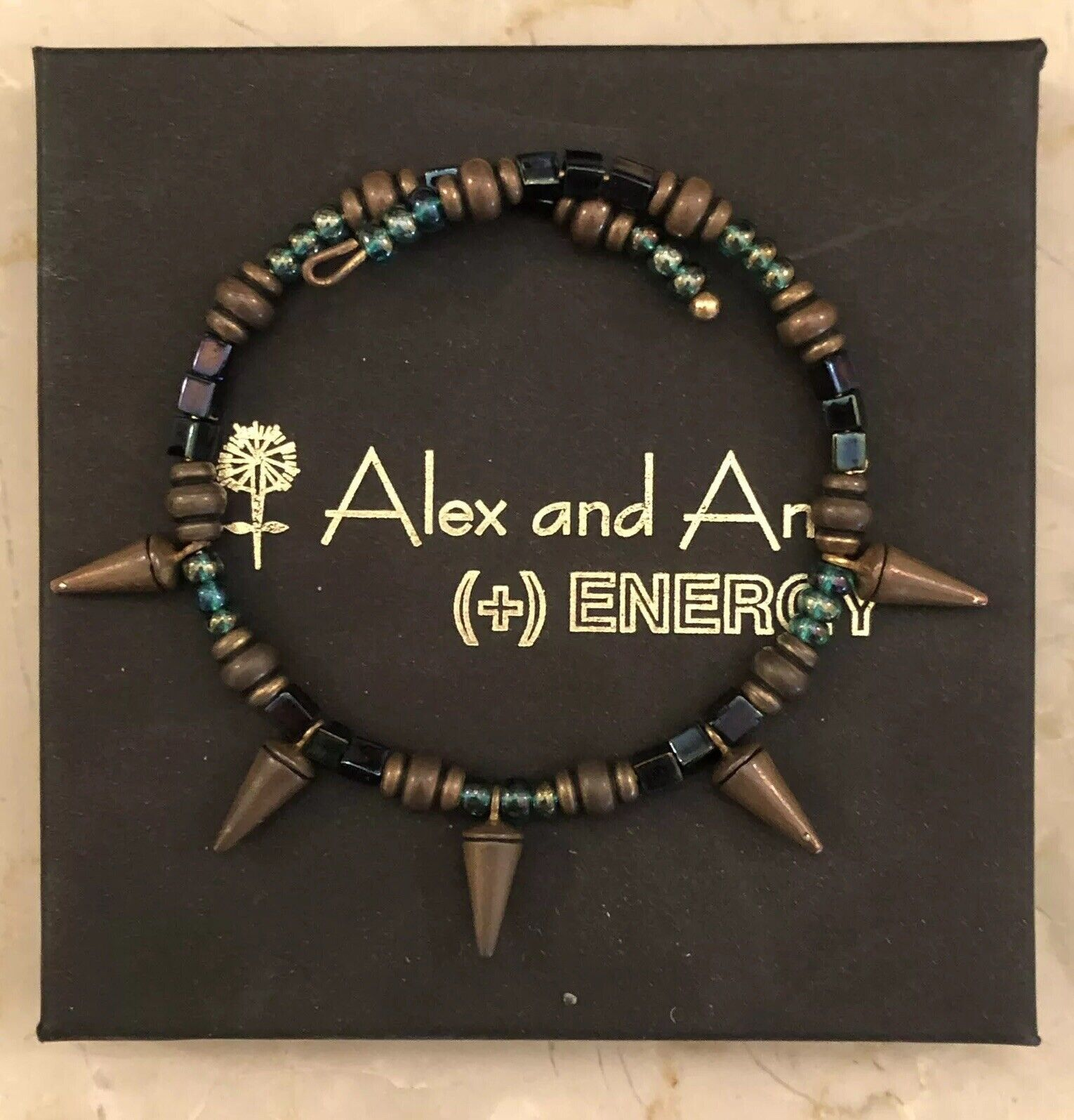 ALEX AND ANI VINTAGE 66 SPIKE WRAP BRACELET - BOSTON EXCLUSIVE - RETIRED + RARE