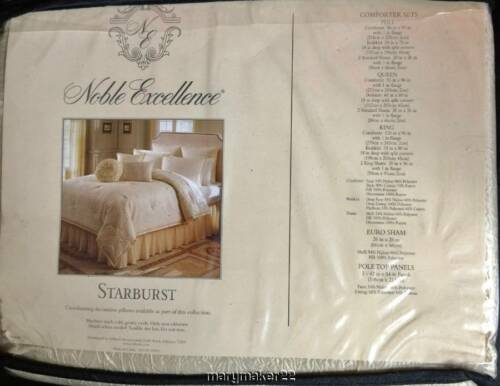 "NWOT Noble Excellence European Cream Pillow Sham 26/"" x 26/"" Crinkled /& Pleated"