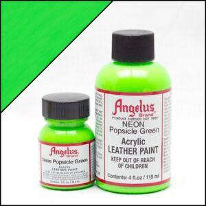 Angelus Acryl Lederfarbe Neon Popsicle Grün (126) 29,5ml (20,17€/100ml) Leder