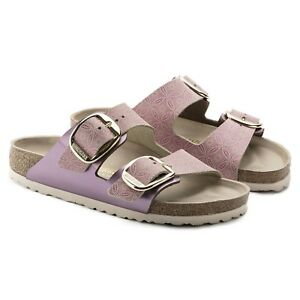 Birkenstock Arizona big buckle Leder schmal ceramic pattern rose Sandale 1009937