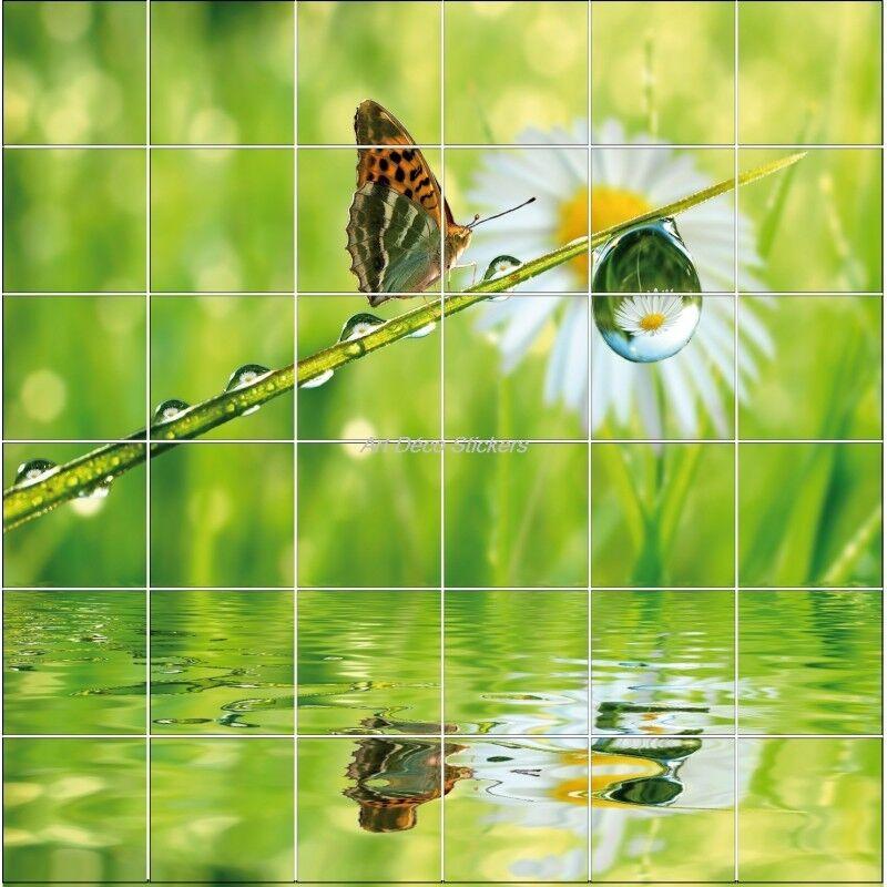 Aufkleber Fliesen Wand Deko Schmetterling 838