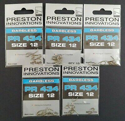Preston PR 28 Hooks Barbless Spade End Size 10 x 10 packets