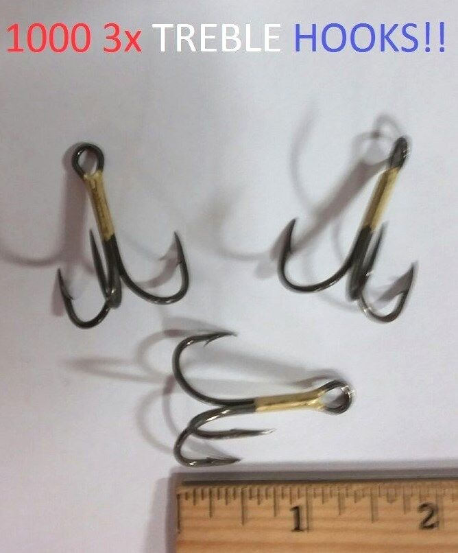 1000 Eagle Claw 2 0 Bronze 3x Curved-Point Treble Hooks (674M-2 0) EB100302