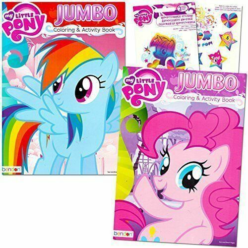 - My Little Pony Coloring Book Super Set With Stickers 2 Jumbo Books And  Stick... For Sale Online EBay