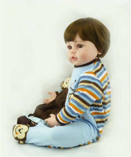Reborn Toddler Twins Dolls Boy and Girl 24in Realistic Silicone Cute Babies 2pcs