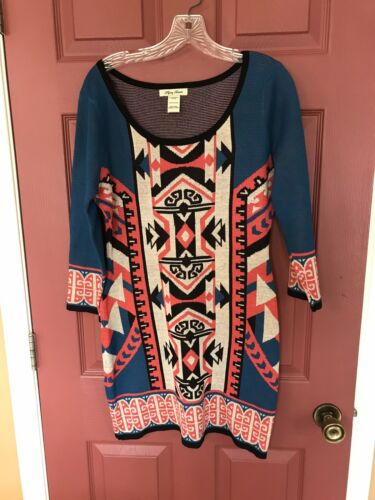 Womens Flying Tomato Aztec Print Dress Size M