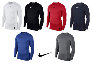 1348483cbc61 Mens Nike Pro Compression Crew Neck Long Sleeve T Shirt Base Layer ...